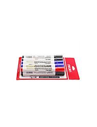10 kann installiert werden, um Wasser Büro Whiteboard Stift eine Schachtel mit 7 schwarz 2 blau 1 rot gesetzt zu reinigen