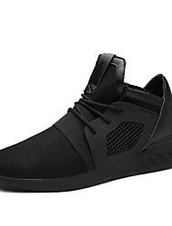 Herren-Sneaker-Outddor Lässig Sportlich-Tüll-Flacher Absatz-Komfort-Schwarz Blau Rot