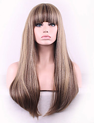 The New Cos Wig Flax Brown Color Mixture Liu Haichang Straight Hair Wigs 26 Inch