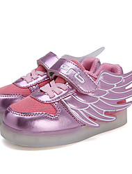 Girls' Shoes Casual PU / Tulle Sneakers / Flats Spring / Fall Comfort / Round Toe /Others / Magic Tape / Hook & Loop /