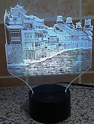 Фэнхуан город касания затемнением 3D LED ночь свет 7colorful украшения атмосфера новизны светильника освещения свет рождества