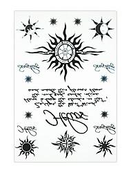 1 Tatuagem Adesiva Séries Totem Non Toxic / Estampado / Lombar / WaterproofFeminino / Adulto Flash do tatuagem Tatuagens temporárias