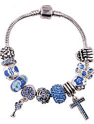 Strand Bracelets 1pc,Blue Bracelet Fashionable Circle 514 Alloy Jewellery