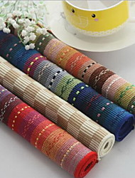 Wholesale European Colorful Pure Cotton Stripe Eat Mat