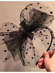 Damen Spitzen Kopfschmuck-Hochzeit Stirnbänder 1 Stück Schwarz