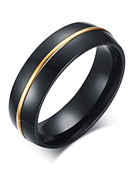 Men's Stainless Steel Ring Plated Vintage Casual Party / Daily / Casual 1pc Band Rings