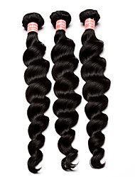 "6A Malaysian Virgin Hair Loose Wave Malaysian Loose Wave Hair 3 Unprocessed Virgin Hair Weave Bundles 10""-30"""