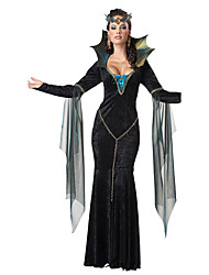 Cosplay Costumes Queen Fairytale Movie Cosplay Black Solid Dress Halloween Christmas New Year Female Polyester