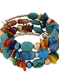 Strand Bracelets Vintage Bohemian Crystal National Wood Charm Bracelet Friendship Bracelet Stone Bangles Jewelry Gift