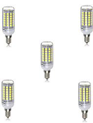 5шт 5w 500-550lm 69smd 5730 e14 привели кукурузные лампы ampoule рождественские прожекторы lamparas (ac220-240v)