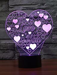 Liebe Touch Dimm 3d Nachtlicht 7colorful Dekoration Atmosphäre Lampe Neuheit Beleuchtung Weihnachten Licht geführt