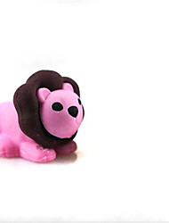 leão bonito detachablelittle forma borracha (cor aleatória x 2 pcs)