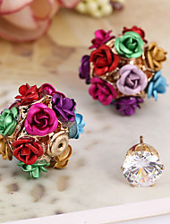 Earring Flower Stud Earrings Jewelry Women Fashion Daily / Casual Alloy 1 pair Assorted Color