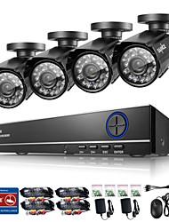 sannce 8ch hd 960H HDMI DVR 800tvl exterior CCTV sistema de câmera de segurança em casa