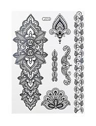 1pc Black Temporary Body Art Tattoo Woman Back Flower Waterproof Tattoo Sticker BJ016