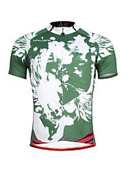 ILPALADINO Maillot de Ciclismo Hombre Manga Corta Bicicleta Camiseta/Maillot Tops Secado rápido Resistente a los UV Transpirable Suave