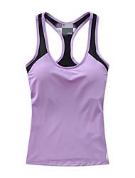 Femme Sans manche Course / Running Gilet/Sans Manche Soutien-Gorges de Sport ShirtRespirable Séchage rapide Compression