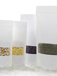 Matte White Kraft Ziplock Bags Of Seeds Thickened Food Bags Independence Bags Kraft Paper Bags A Pack Of Ten Windows