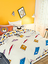 Books 800TC bedding sets Queen King size Bedlinen printing sheets pillowcases Duvet cover sanding Cotton Fabric