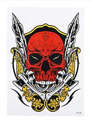 1pc Water Transfer Body Arm Art Temporary Waterproof Tattoo Sticker Women Men Death Skull Tattoo Drawing Decal HB-348