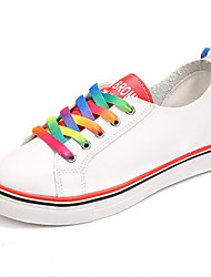 Women's Shoes Student Canvas Rainbow Comfort / Jelly / Round Toe Sneakers Outdoor / Athletic / Casual Platform Lace-up