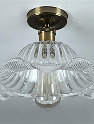 40W Retro Mini Style Glass Pendant Lights Living Room / Bedroom / Dining Room / Study Room/Office / Kids Room / Hallway