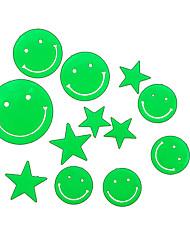 maison romantique veilleuses absorptiométrique stickers visage souriant et les étoiles