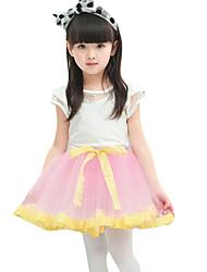 Mädchen Rock-Lässig/Alltäglich einfarbig Baumwolle Sommer Rosa