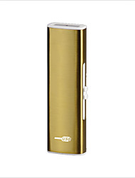 (Color random)On The Double Cigarette Lighter Usb Rechargeable Lighter Gift Windproof Lighters