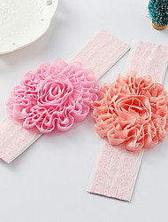 Korean Flower Girl's Fabric Flower Headbands