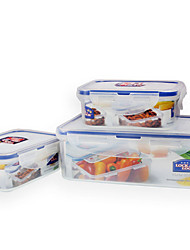 LOCK&LOCK 3/set Kitchen Kitchen Polypropylene Lunch Box 200*120*70mm,135*102*52mm