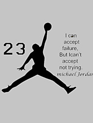 AWOO®  Michael Jordan Play Basketball Wall Stickers Home Decor Wall Decals For Kids Room Decoration Vinyl Stickers