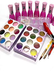 Nail Polish Gel UV 15ML 15 Purpurina / Variação de Cor / Gel de Côr UV / Gel de Revestimento Superior UV / PastelMergulhe off de Longa