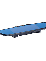 7-дюймовый зеркало заднего вида вождения рекордер двойной задним ходом записи голоса GPS трекер
