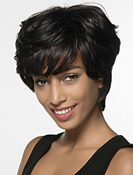 Cheap Black Cute Short Synthetic Wig Afro African American Heat Resistant Synthetic Wigs