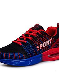 Masculino-Tênis-Conforto-Rasteiro-Azul / Vermelho / Laranja / Azul Real-Couro Ecológico-Ar-Livre / Para Esporte