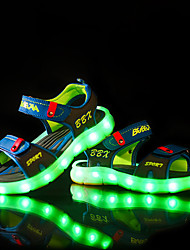 LED Light Up Shoes, Boy's Sandals Summer Sandals PU Casual Flat Heel  Blue / Gray Others