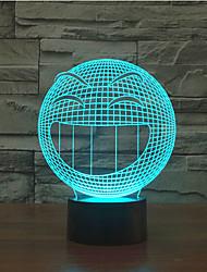 Выражение касания затемнением 3D LED ночь свет 7colorful украшения атмосфера новизны светильника освещения свет рождества