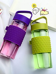 Portable Pyrex Glass with Silicone Sleeve for Home and Travel