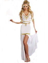 Cosplay Costumes Princess / Fairytale Movie Cosplay White Solid Dress / Headpiece / Bandage Halloween / Christmas / New Year Female