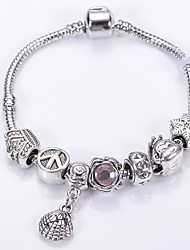 Fashion Jewelry Bracelets&brangle Glass European Beads bracelets for Women Gift Strand Beads bracelets BLH7261
