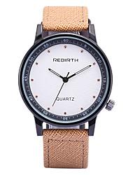 REBIRTH Pánské Módní hodinky Náramkové hodinky / Křemenný PU Kapela Běžné nošení Černá Modrá Khaki