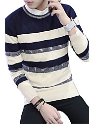 2016 autumn and winter sweater male New SWEATER MENS LONG SLEEVED blue striped trend of Korean