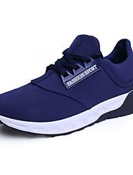 Herren-Sneaker-Outddor / Lässig / Sportlich-Wildleder / Tüll / Stoff-Flacher Absatz-Komfort-Schwarz / Blau / Rot