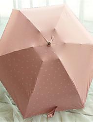 Cores Sortidas Guarda-Chuva Dobrável Sombrinha / Ensolarado e chuvoso / Chuva Metal / têxtil / SiliconeCarrinho / Crianças / Viagem /