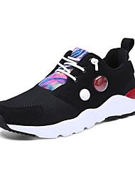 chaussures pour femmes faux suède confort automne / hiver chaussures de sport talon plat lacets noir / violet / rouge
