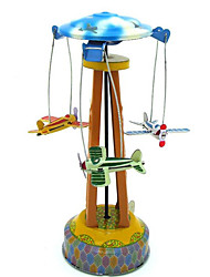Stress Relievers  Puzzle Toy  Wind-up Toy Novelty Toy  Aircraft  Merry-go-round Metal Blue For Kids