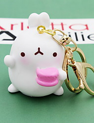 Cartoon Rabbit Random Key Ring