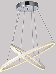 Contemporary LED Acrylic Pendant Lights Fixtures Chandelier Lamps Lighting for Home Bar with 2 Ring 56W CE FCC ROHS