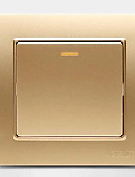 Steel Embedded Steel Wall Switch Champagne A Double Control Switch